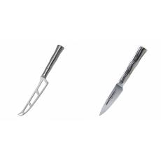 Nůž na sýr Samura Bamboo (SBA-0022), 135 mm + Nůž na ovoce a...