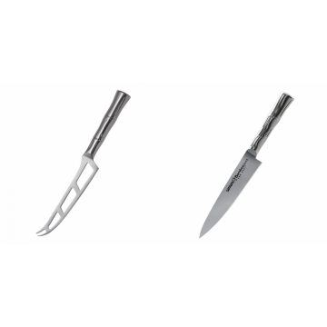 Nůž na sýr Samura Bamboo (SBA-0022), 135 mm + Univerzální nůž Samura Bamboo (SBA-0021), 125 mm