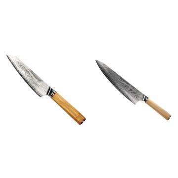 Šéfkuchařský nůž Seburo HOKORI EDGE Damascus, 155mm + Šéfkuchařský nůž Seburo HOKORI Damascus 230mm