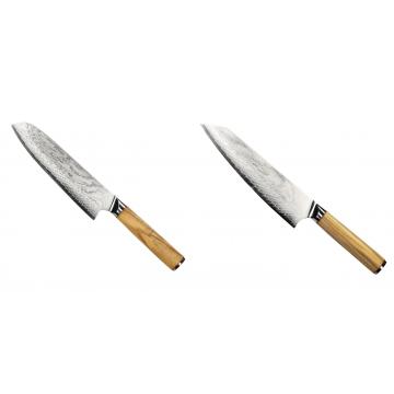 Santoku nůž Seburo HOKORI Damascus 180mm + Šéfkuchařský nůž Seburo HOKORI EDGE Damascus 200mm