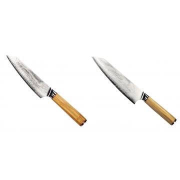 Šéfkuchařský nůž Seburo HOKORI EDGE Damascus, 155mm + Šéfkuchařský nůž Seburo HOKORI EDGE Damascus 200mm