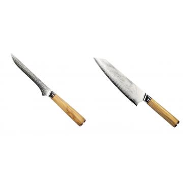 Vykosťovací nůž Seburo HOKORI Damascus 130mm + Šéfkuchařský nůž Seburo HOKORI EDGE Damascus 200mm