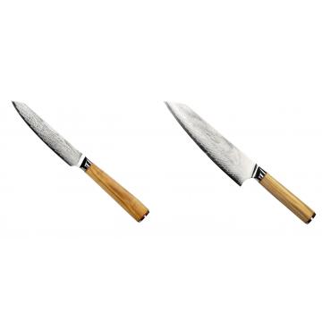 Univerzální nůž Seburo HOKORI EDGE Damascus 130mm + Šéfkuchařský nůž Seburo HOKORI EDGE Damascus 200mm
