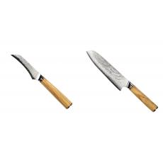 Loupací nůž Seburo HOKORI Damascus 90mm + Santoku nůž Seburo...