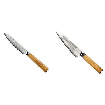 Univerzální nůž Seburo HOKORI EDGE Damascus 130mm + Šéfkuchařský nůž Seburo HOKORI EDGE Damascus, 155mm
