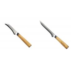 Loupací nůž Seburo HOKORI Damascus 90mm + Vykosťovací nůž Seburo...