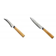 Loupací nůž Seburo HOKORI Damascus 90mm + Univerzální nůž Seburo...