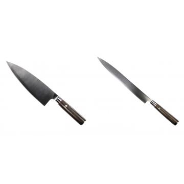 Kuchyňský nůž Seburo MUTEKI Deba 200mm + Kuchyňský nůž SEBURO MUTEKI Yanagiba 285mm