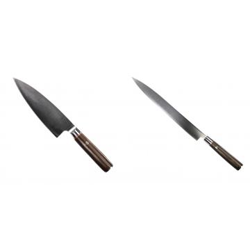 Kuchyňský nůž Seburo MUTEKI Deba 180mm + Kuchyňský nůž SEBURO MUTEKI Yanagiba 285mm