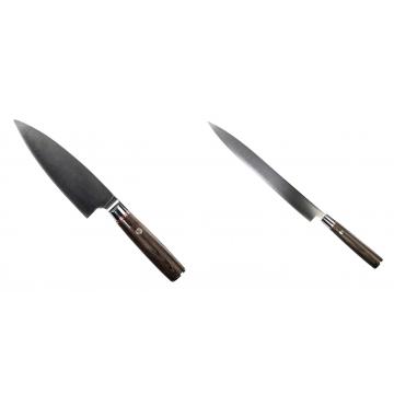 Kuchyňský nůž Seburo MUTEKI Deba 160mm + Kuchyňský nůž SEBURO MUTEKI Yanagiba 285mm
