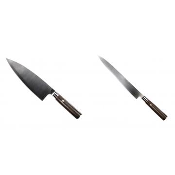 Kuchyňský nůž Seburo MUTEKI Deba 200mm + Kuchyňský nůž SEBURO MUTEKI Yanagiba 260mm
