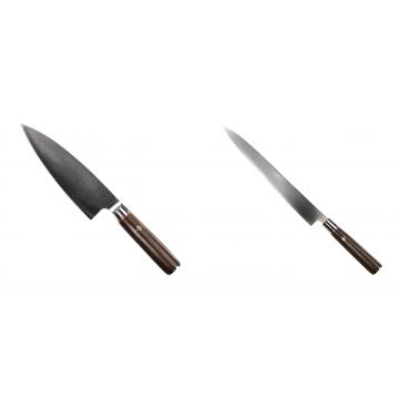 Kuchyňský nůž Seburo MUTEKI Deba 180mm + Kuchyňský nůž SEBURO MUTEKI Yanagiba 260mm