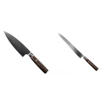 Kuchyňský nůž Seburo MUTEKI Deba 160mm + Kuchyňský nůž SEBURO MUTEKI Yanagiba 260mm