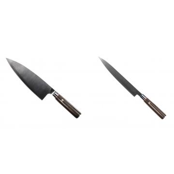 Kuchyňský nůž Seburo MUTEKI Deba 200mm + Kuchyňský nůž SEBURO MUTEKI Yanagiba 230mm
