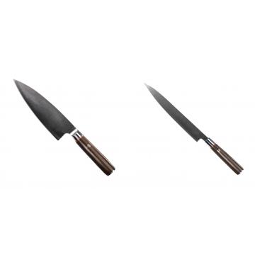 Kuchyňský nůž Seburo MUTEKI Deba 180mm + Kuchyňský nůž SEBURO MUTEKI Yanagiba 230mm