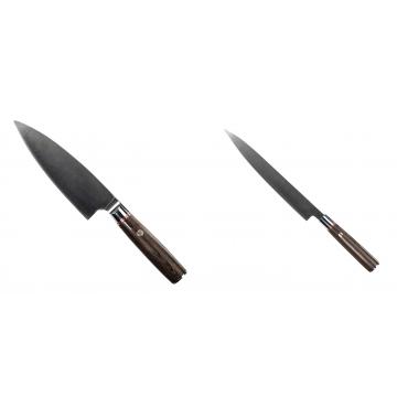 Kuchyňský nůž Seburo MUTEKI Deba 160mm + Kuchyňský nůž SEBURO MUTEKI Yanagiba 230mm