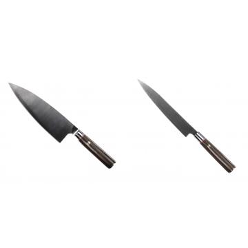 Kuchyňský nůž Seburo MUTEKI Deba 200mm + Kuchyňský nůž SEBURO MUTEKI Yanagiba 200mm