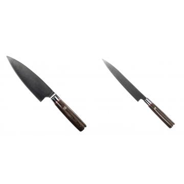 Kuchyňský nůž Seburo MUTEKI Deba 160mm + Kuchyňský nůž SEBURO MUTEKI Yanagiba 200mm