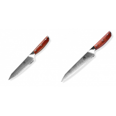 Japonský univerzální nůž Dellinger Rose-Wood Damascus, 130mm +...
