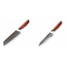 Japonský univerzální nůž SANTOKU / Chef Dellinger Rose-Wood...