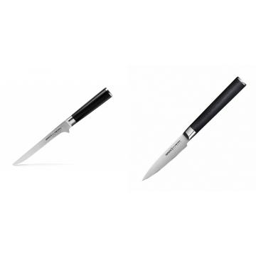Vykosťovací nůž Samura MO-V (SM-0063), 150mm + Nůž na ovoce a zeleninu Samura Mo-V (SM-0010), 90mm