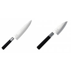 Wasabi Black Nůž šéfkuchaře KAI 200mm + Wasabi Black Deba KAI...