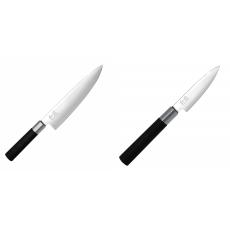 Wasabi Black Nůž šéfkuchaře KAI 200mm + Univerzální nůž KAI...