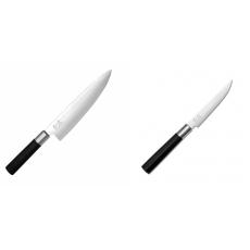 Wasabi Black Nůž šéfkuchaře KAI 200mm + Steakový nůž KAI Wasabi...