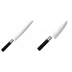 Wasabi Black Nůž na pečivo KAI 230mm + Malý šéfkuchařský nůž KAI...