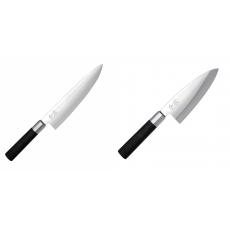 Wasabi Black Nůž šéfkuchaře KAI 200mm + Vykosťovací nůž KAI...