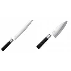 Wasabi Black Nůž na pečivo KAI 230mm + Vykosťovací nůž KAI...