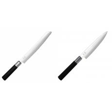 Wasabi Black Nůž na pečivo KAI 230mm + Univerzální nůž KAI...