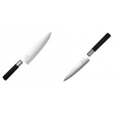 Wasabi Black Nůž šéfkuchaře KAI 200mm + Plátkovací nůž KAI...