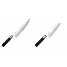Wasabi Black Nůž šéfkuchaře KAI 200mm + Santoku nůž KAI Wasabi...