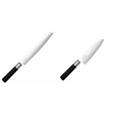 Wasabi Black Nůž na pečivo KAI 230mm + Santoku nůž KAI Wasabi...
