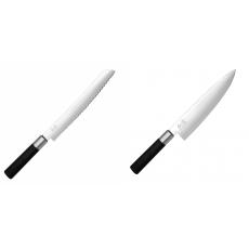 Wasabi Black Nůž na pečivo KAI 230mm + Wasabi Black Nůž...