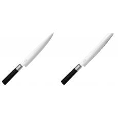 Plátkovací nůž KAI Wasabi Black, 230 mm + Wasabi Black Nůž na...